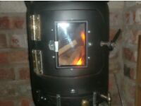 Gas Bottle Wood Burner with Glass Window