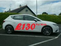 2013 Seat Leon 1.6Tdi, Low Miles in White, Finance available