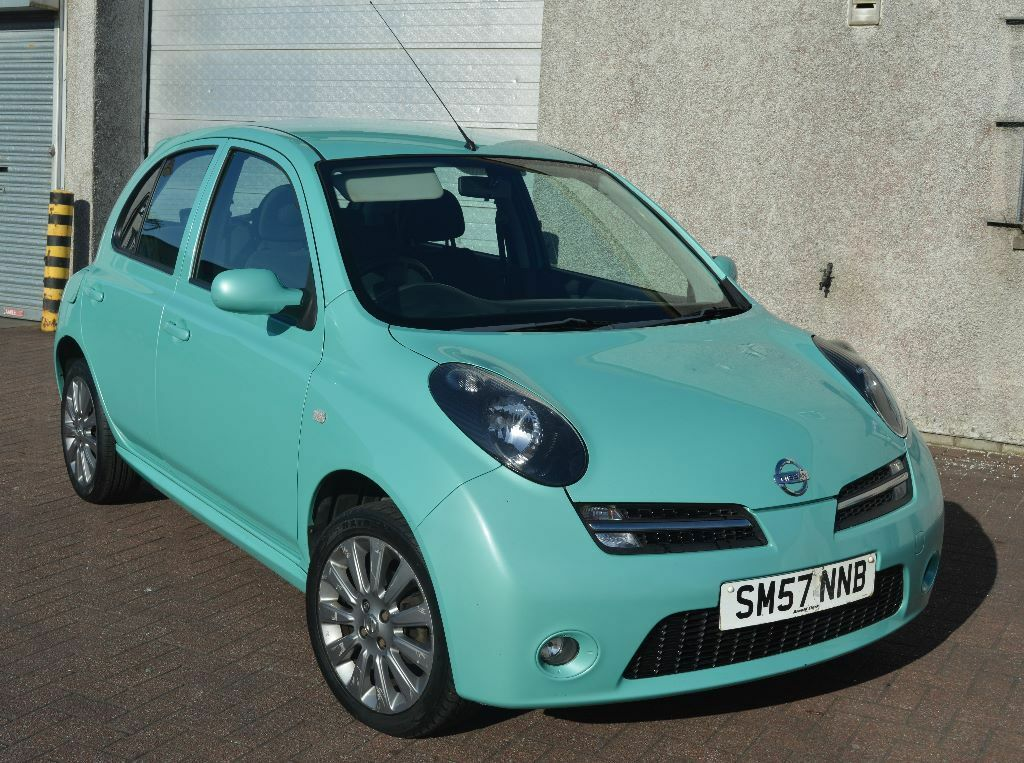 stunning 2007 nissan micra chic 1 2 mot mar 17 only 86000 miles stunning turquoise colour. Black Bedroom Furniture Sets. Home Design Ideas