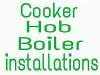COOKER HOB & BOILER INSTALLATION. GAS ENGINEER, COOKER FITTER