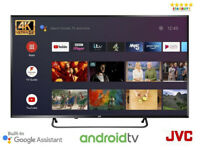 "JVC LT-50CA890 Android TV 50"" inch Smart 4K HDR UHD LED TV W/ Google Assistant"