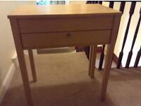 Wooden Extendable Desk with Chair