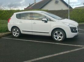 2013 Peugeot 3008 1.6Hdi Active, One Owner, full service history, In White