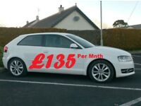 Audi A3 1.6Tdi Sport, White 3Door, £20 tax.