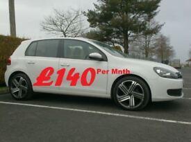 2012 Vw Golf 1.6Tdi Bluemotion Match, High Spec, £30 tax.