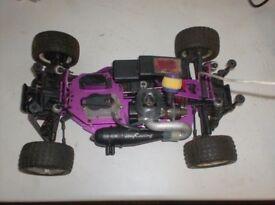 Cen Fun Factor Nitro RC Car Buggy x2 + Spares