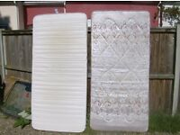 3 single mattresses comfy very usable no longer needed £10 each