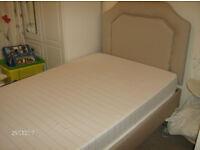 Adjustable bed with matching headboard. Nearly new, vgc. Reflex mattress.