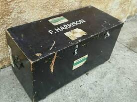 Vintage Retro Antique Travel Chest Trunk Kist Tools Toys