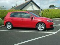 2011 Vw Golf Tdi, High Spec Match Model, Bright Red, full History,