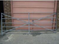 salvaged Victorian hand made wrought iron estate gate
