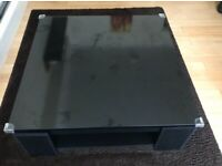Low Gloss Black Coffee Table with storage space