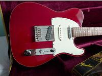 Fender American Deluxe Telecaster 1998, Crimson Red Transparent