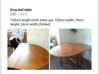 Drop Leaf Table - Large