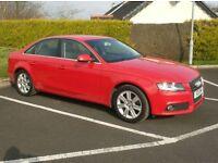 2011 Audi A4Tdi 143bhp, Low Miles, Bright Red, Parking Sensors.
