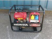2KVA HONDA EC2000 DUAL VOLTAGE PETROL GENERATOR 110v/240v