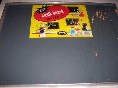 Vintage Black Chalkboard Aluminum Shelf Chalk Board