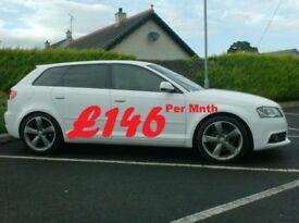 2012 Audi A3 2.0Tdi S Line Black Edition, In White. £30 tax.
