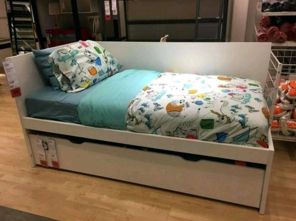 Ikea Flaxa Single Bed With Guest Bed Pull Out Trundle White With Mattresses In Whitstable Kent Gumtree