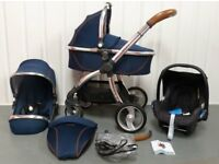 Babystyle egg in Regal Navy Blue travel system