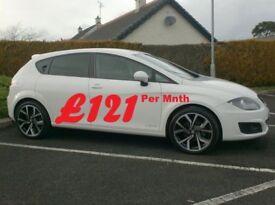 2012 Seat Leon 1.6Tdi Se Copa, in White, Finance available