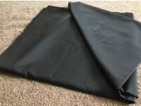 3 metres of black fabric