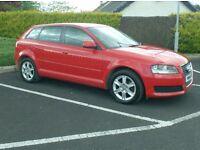 2010 Audi A3 1.6Tdi Sportback, bright Red, £20 to tax