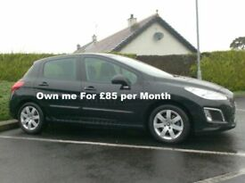 2012 Peugeot 308 1.6Hdi Active, £20 to tax.
