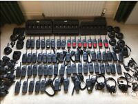 77 x Motorola UHF GP340 Radios + 3 x Chargers + Accessories Huge Radio Bundle
