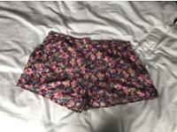Beautiful floral new look shorts size 18
