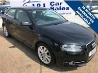 AUDI A3 1.4 TFSI SPORT 3d 123 BHP A GREAT EXAMPLE INSIDE AND OUT (black) 2011