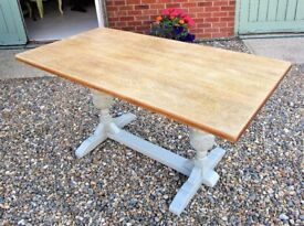SALE! A Beautiful Oak Refectory Dining Table by Vintiture