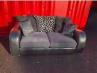 Leather & Fabric Sofa (Delivery Included)