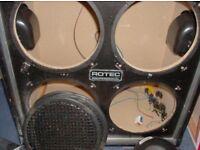 4x10 empty speaker cabinet