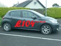 2012 Peugeot 208 1.4Hdi Active, Free tax, Finance Available