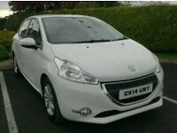 2014 Peugeot 208 1.4Hdi, in white, free tax.