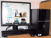 Dell Vostro Windows 10 PC Core 2 Duo Desktop Computer Complete 2GB RAM 80GB HDD Microsoft Office
