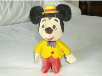 Vintage Disney Woolikin Mickey Mouse – bought 1969 from Disney World – rare example