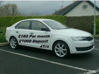 2015 Skoda Rapid 1.6Tdi , in White, Ask for Finance