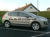 2012 Peugeot 3008 1.6Hdi, finance available