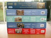 FOUR W H SMITH AND ONE GIBSONS JIGSAW PUZZLE ALL COMPLETE