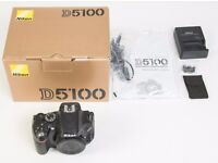 Nikon D D5100 16.2MP Digital SLR Camera - Black (Body Only)