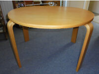 Oval Coffee Table, Laminated Birch