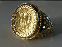 22ct gold half sovering ring approx Z 1/2
