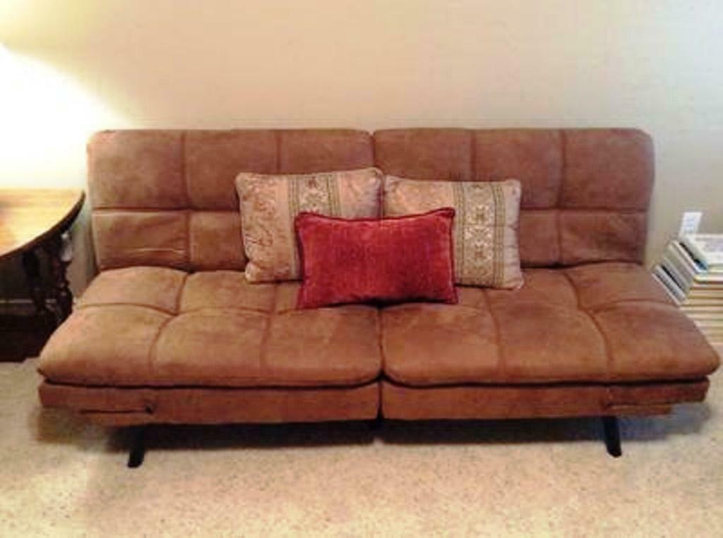 sleeper sofa bed suede convertible couch modern