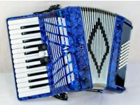 Sila 48 Bass Accordion in Blue - Demo Model