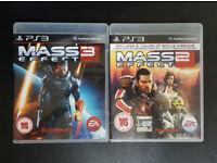 Mass Effect 2 + Mass Effect 3 games for PS3 (PlayStation 3)