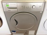 BEKO - Silver , 6KG , Sensor Dry CONDENSER DRYER + 3 Month Guarantee + FREE LOCAL DELIVERY