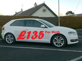 Audi A3 1.6Tdi Sport, White 3Door, £20 tax.