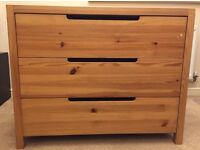 Chest of drawers, real pine £19